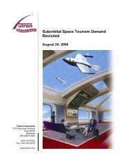 suborbital tourism - Futron Corporation