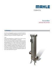 Kerzenfilter AFK 30-40 ATEX - MAHLE Industry - Filtration