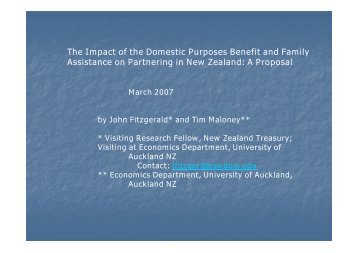The Impact of the Domestic Purposes Benefit and Family Assistance ...