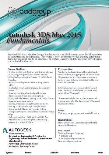 Autodesk 3ds Max Fundamentals.pdf - Cadgroup