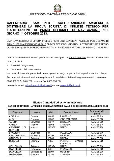 Calendario Esami Titoli Professionali Marittimi.Ammissione E Data Esame Per Primo Ufficiale Di Guardia