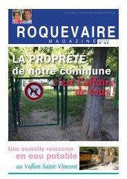 Roquevaire Magazine », ete 2013
