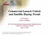Commercial Launch Vehicle and Satellite Buying Trends - Futron ...