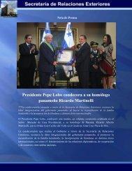Presidente Pepe Lobo condecora a su homólogo panameño ...