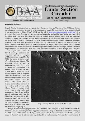 Vol 48, No 9, September 2011 - BAA Lunar Section