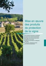 Mise en œuvre des produits de protection de la vigne