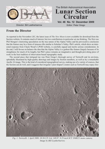 Vol 46, No 12, December 2009 - BAA Lunar Section