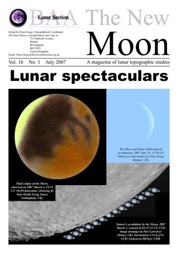 Vol. 16, No. 1 - BAA Lunar Section
