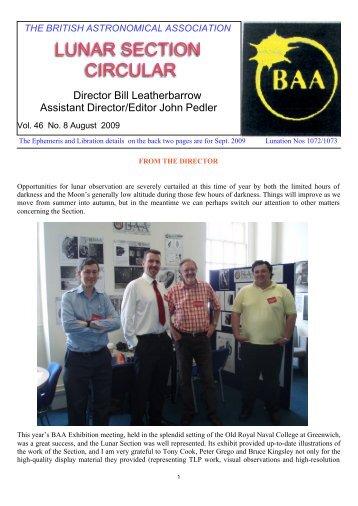 Vol 46, No 8, August 2009 - BAA Lunar Section