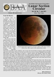 Vol 48, No 7, July 2011 - BAA Lunar Section