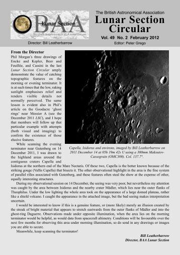 Vol 49, No 2, February 2012 - Lunar Section