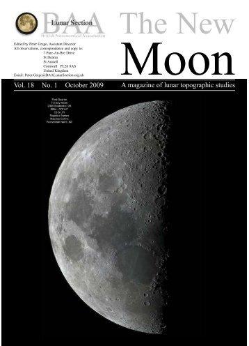Vol. 18, No. 1 - BAA Lunar Section
