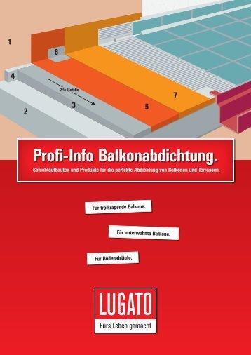 Profi-Info Balkonabdichtung - Lugato
