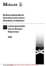 Leistungsschalter IZM - Klockner Moeller Parts