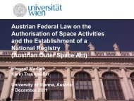 Austrian Federal Law on the Authorisation of Space Activities and ...