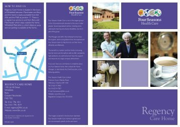 Regency Brochure - Four Seasons Health Care