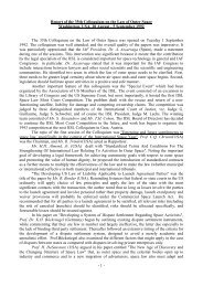 - 1 - Report of the 35th Colloquium on the Law of Outer Space ...