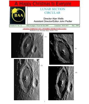 Vol 41, No 12, December 2004 - Lunar Section