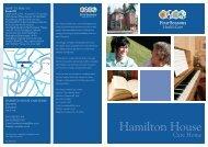 Hamilton House Brochure - Four Seasons Health Care