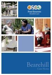 Bearehill Brochure - Four Seasons Health Care