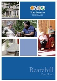 Bearehill Brochure - Four Seasons Health Care