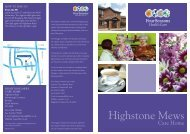 Highstone Mews Brochure - Four Seasons Health Care