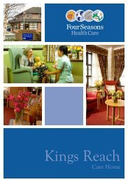 Kings Reach Brochure - Four Seasons Health Care