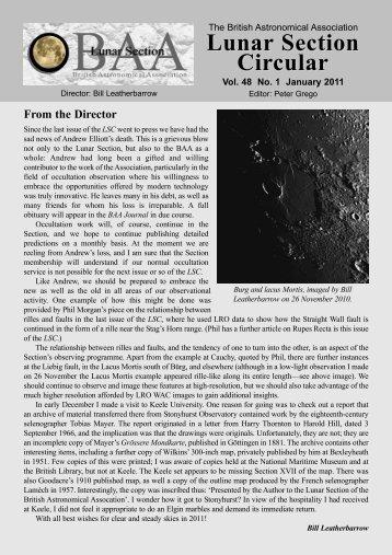 Vol 48, No 1, January 2011 - BAA Lunar Section