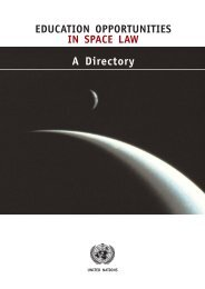 Education Opportunities in Space Law - International Institute of ...