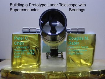 A scalable superconductor bearing system for lunar telescopes and ...