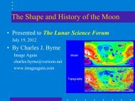 The Shape and History of the Moon - NASA Lunar Science Institute