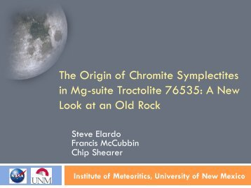 The Origin of Chromite Symplectites in Mg-suite Troctolite 76535: A ...
