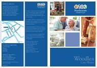 Woodlea Brochure - Four Seasons Health Care