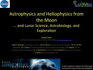 Astrophysics and Heliophysics from the Moon - NASA Lunar ...
