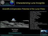 Characterizing Luna Incognita - NASA Lunar Science Institute