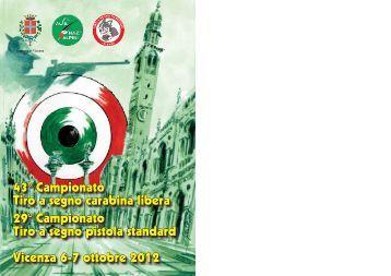 43° Campionato Tiro a segno carabina libera 29 ... - Sezione Vicenza