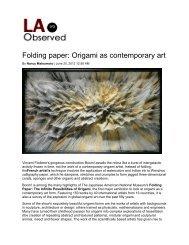 Folding paper - International Arts & Artists