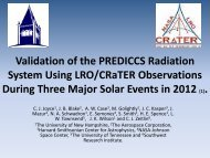 Validation of the PREDICCS Radiation System Using LRO/CRaTER ...