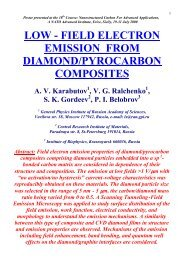 field electron emission from diamond/pyrocarbon composites
