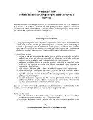 Vyhláška č. 9/99 Požární řád města Chropyně pro ... - Město Chropyně