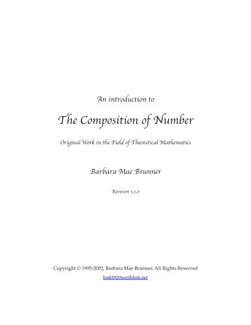 An introduction to The Composition of Number - Lunar Planner