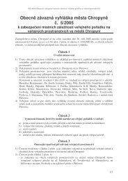 Obecně závazná vyhláška města Chropyně č. 5/2005