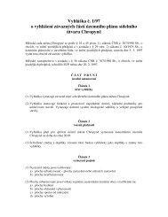 Vyhláška č. 1/97 o vyhlášení závazných částí územního plánu ...