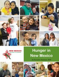 Hunger in New Mexico - Roadrunner Food Bank