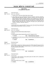 Výpis usnesení z jednání č. 35 ze dne 4. ledna 2012 - Město Chropyně