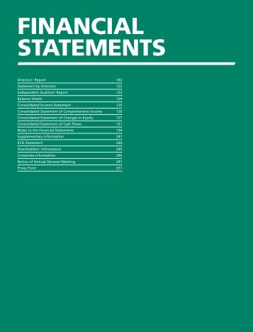 FINANCIAL STATEMENTS (Full Version) - Sembcorp