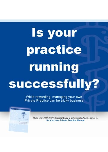 Is your practice running successfully? - Australian Medical ...