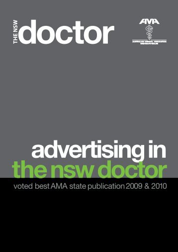 voted best AMA state publication 2009 & 2010 - Australian Medical ...