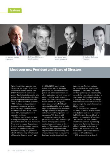 Meet your new president and board of directors - Australian Medical ...