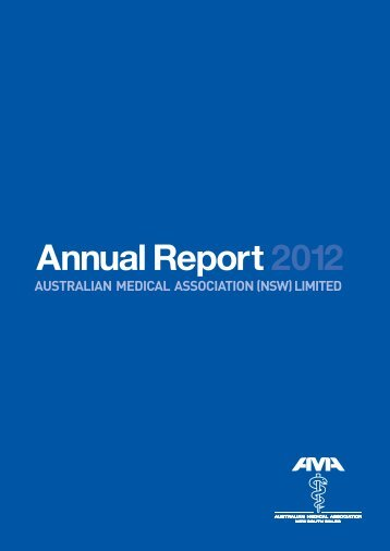 to download the 2012 Annual Report (PDF) - Australian Medical ...